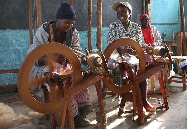 Wool spinning in Kinangop.