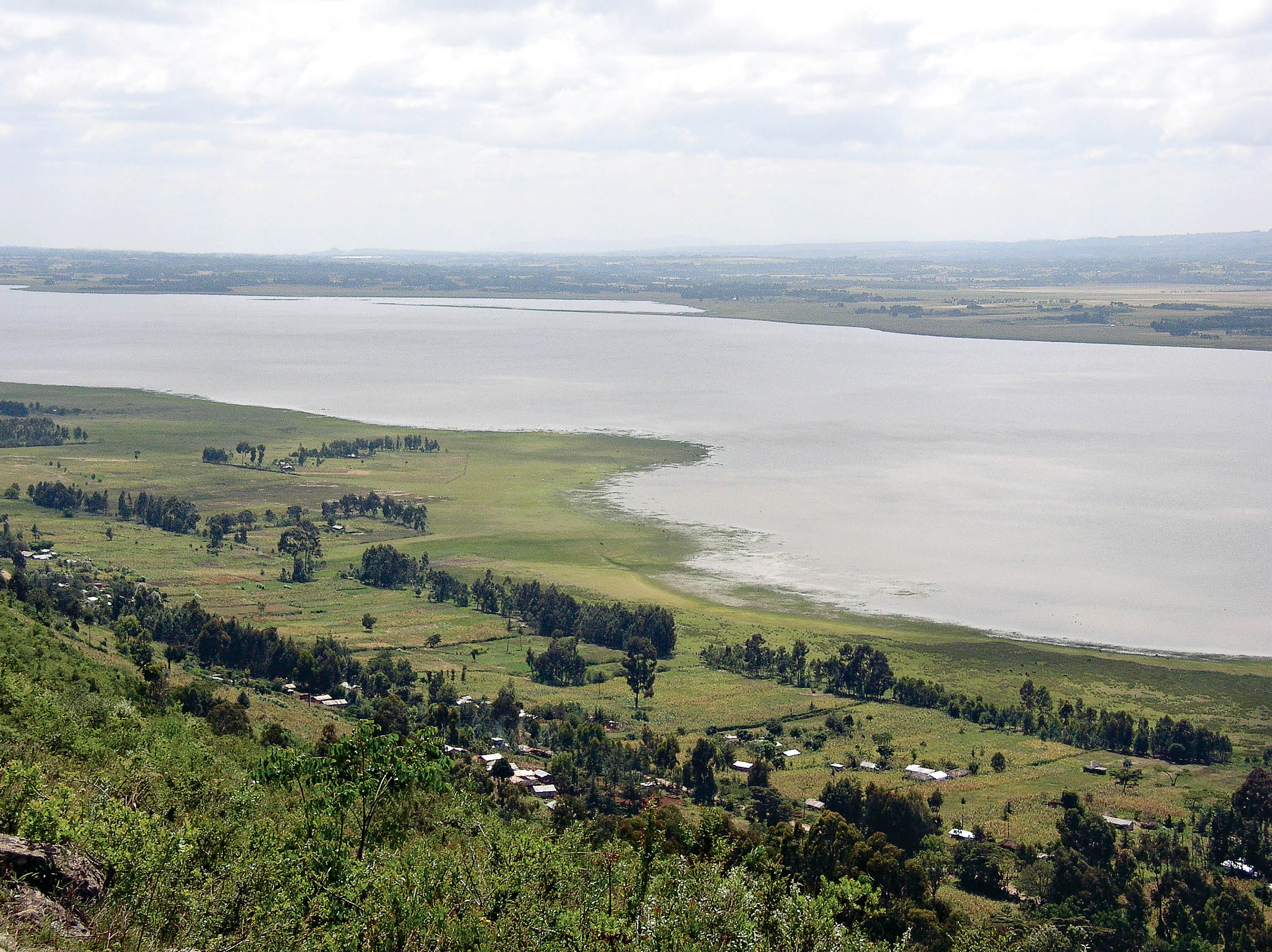 An aerial view of Lake Ol Bolossat. PHOTO: A. WAMITI