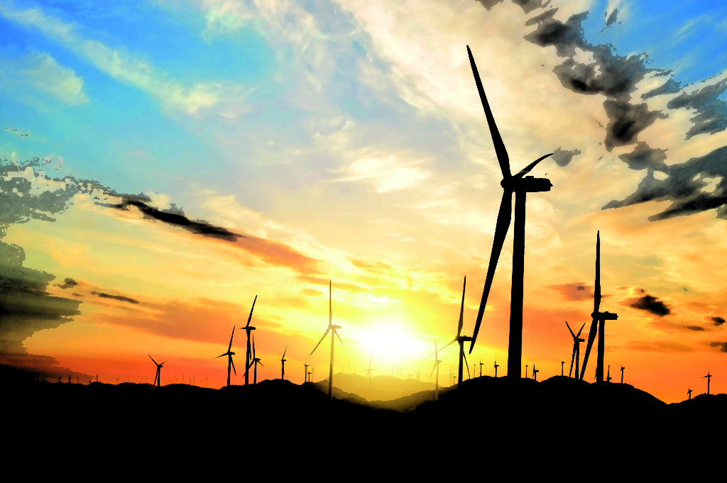 Wind turbines placed on hilltops. PHOTO COURTESY OF FREEPIK.COM